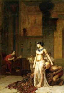 painting - Cleopatra and Caesar_by_Jean-Leon-Gerome