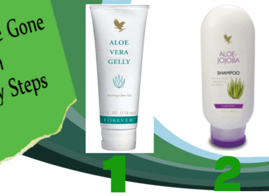 image- FLP aloe shampoo-conditioner and aloe vera gelly. Used for effective treatment of head-lice