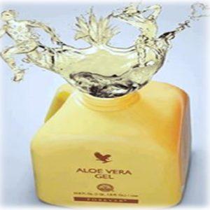 bottle of aloe vera drink